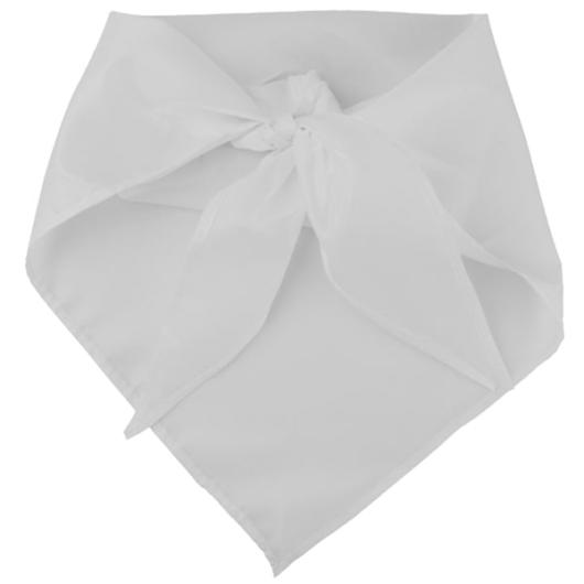 Háromszögkendő tű nélk, fehér,flísz